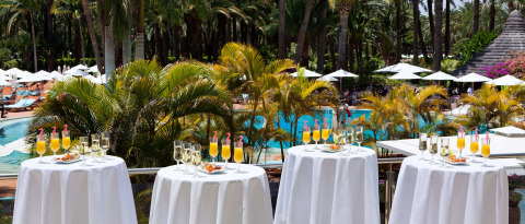 Celebrate outdoor weddings in Gran Canaria all year round in the hotel's pretty surroundings