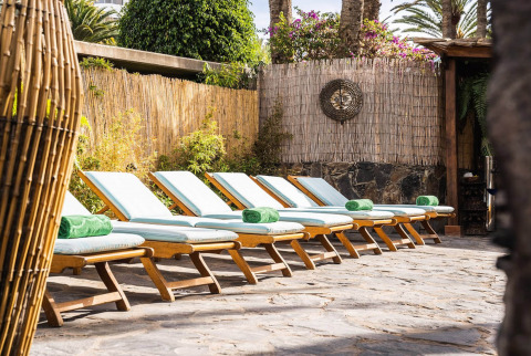 Relax outdoors after your treatment at this Gran Canaria spa, wellness and health resort